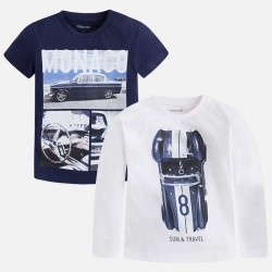 LOT DE 2 T-SHIRT M/L ET M/C