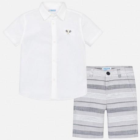 Ens.bermuda chemise m/c