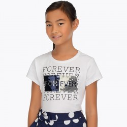 T-shirt m/c paillettes