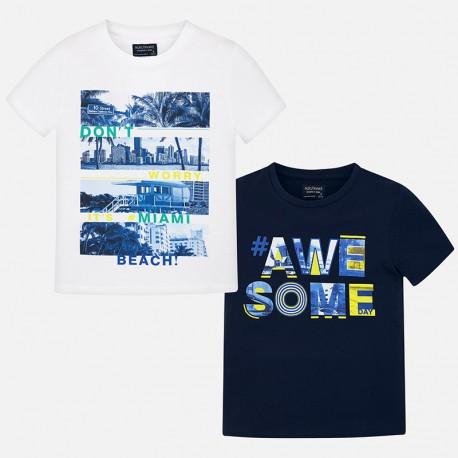 Lot de 2 t-shirts m/c