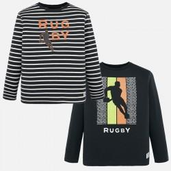 - Set 2 t-shirts m/l uni/raye