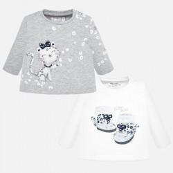 - Lot de 2 t-shirts m/l