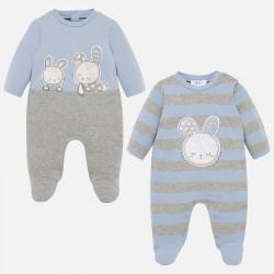 Lot de 2 pyjamas interlock
