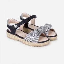 Sandales jute rayures
