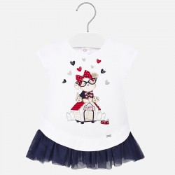 Robe tricot et tulle