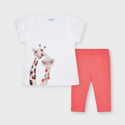 - Ens.leggings girafe