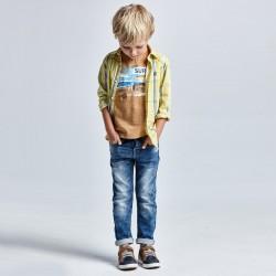 - Pantalon jean soft 5p