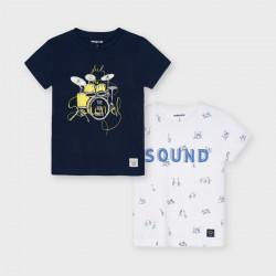 - Set 2 camiseta m/c serigrafie