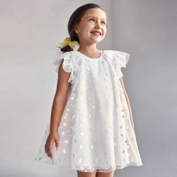 - Robe tulle taupe paillettes