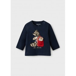 - T-shirt PLAY WITH raton laveur manches longues bebe garcon